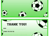 Soccer Thank You Card Template Printable soccer Thank You Notes Printable Treats Com