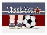 Soccer Thank You Card Template Thank You soccer Card Template Zazzle