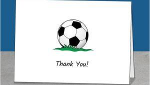 Soccer Thank You Card Template Thank You soccer Coach Mentor Team Gift Coach Thank You
