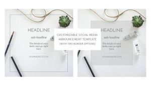Social Media Announcement Email Template social Media Announcement Template Web Elements On