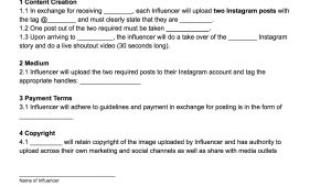Social Media Influencer Contract Template Influencer Template Agreement Phlanx