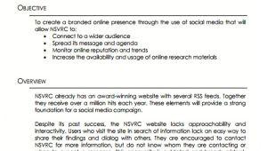 Social Media Management Proposal Template 10 social Media Proposal Templates Free Sample Example