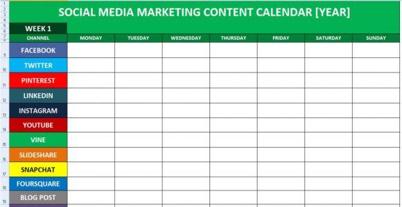 Social Media Planning Calendar Template social Media Calender Template Excel 2014 Editorial
