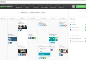 Social Media Publishing Calendar Template Introducing the All New Publishing Calendar In Sprout