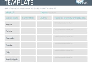 Social Media Publishing Calendar Template Lovely social Media Editorial Calendar Template Best