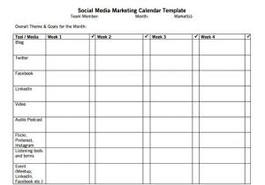 Social Media Publishing Calendar Template social Media Calendar Template Cyberuse