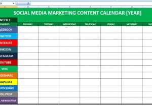 Social Media Publishing Calendar Template social Media Calender Template Excel 2014 Editorial