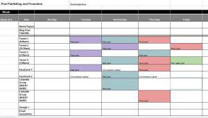 Social Media Publishing Calendar Template the Best Content and social Media Calendar Templates