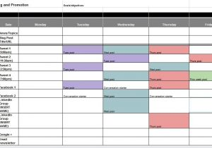 Social Media Publishing Calendar Template the Best Content and social Media Calendar Templates