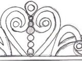 Sofia the First Crown Template Sketches Patterns Templates I Just Sketched Out A