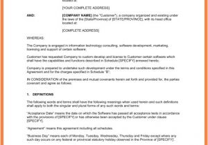 Software as A Service Contract Template 6 software as A Service Agreement Template Purchase