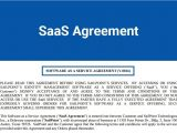 Software as A Service Contract Template Saas Agreement Termsfeed