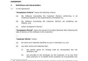 Software as A Service Contract Template Sample software Development Agreement 1
