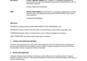 Software as A Service Contract Template software Development and Consulting Services Agreement
