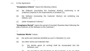 Software Developer Employment Contract Template Sample software Development Agreement 1