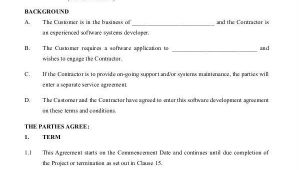 Software Development Contract Template Free 10 Printable Development Contract Samples Templates In