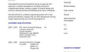 Software Engineer Graduate Resume software Engineer Resume Example 10 Free Word Pdf