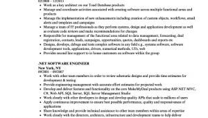 Software Engineer .net Resume Sample Net software Engineer Resume Samples Velvet Jobs