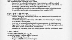Software Engineer Resume Bullet Points software Engineer Resume Sample Writing Tips Resume