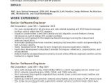 Software Engineer Resume Headline Senior software Engineer Resume Samples Qwikresume