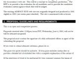 Software Request for Proposal Template Sample Rfp Proposal Template