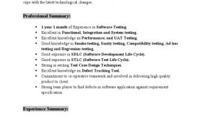 Software Testing Resume Samples for 1 Year Experience Resume Kruthik 1 Year Experience In software Testing