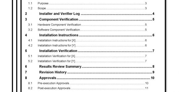 Software Validation Protocol Template Installation Qualification Iq Template