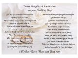 Son and Daughter In Law Wedding Card Verses Poem for A Wedding toast Wedding Ideas