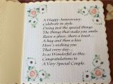 Son and Daughter In Law Wedding Card Verses Verse Inside the Floral Anniversary Card Anniversary Cards