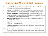 Sow Contract Template 5 Free Statement Of Work Templates Word Excel Pdf