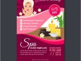 Spa Flyers Templates Free Spa Flyer Template In Flat Design Vector Free Download