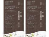 Spa Menu Of Services Template 24 Spa Menu Templates Free Sample Example format