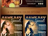 Specials Flyer Template Game Day Specials Flyer Template Graphicmule