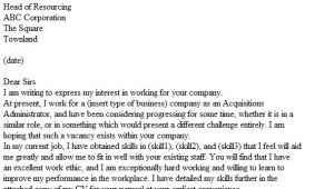 Speculative Job Email Template Speculative Cover Letter Examples Icover org Uk