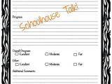 Speech therapy Progress Report Template Schoolhouse Talk February 2013