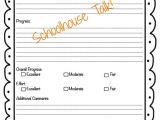 Speech therapy Progress Report Template Schoolhouse Talk Freebie Progress Report Templates