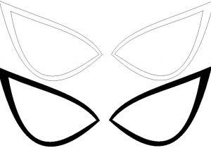 Spoderman Template Spiderman Eyes Template Ultimate Spider Man Eyes Lines