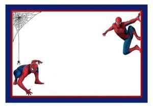 Spoderman Template Spiderman Free Printable Invitation Templates