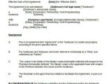 Spokesperson Contract Template 13 Sublease Agreement Templates Word Pdf Pages Free