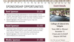 Sponsor Flyer Templates 2014 Tailgate Sponsorship Flyer Work Portfolio