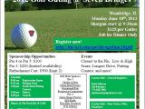 Sponsor Flyer Templates Golf Outing Flyer Flyer Ideas Templates Resume