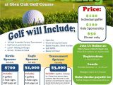 Sponsor Flyer Templates Wny Heroes Inc Golf tournament Glen Oak Flyer Ideas
