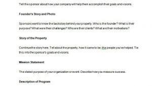 Sponsorship Proposal Template Free Download Sponsorship Proposal Template 16 Free Word Excel Pdf