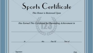 Sports Certificates Templates Free Download Sports Certificate Template Certificate Templates