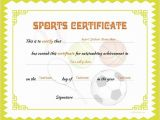 Sports Certificates Templates Free Download Sports Certificate Template for Ms Word Download at Http