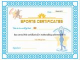 Sports Certificates Templates Free Download Sports Certificate Templates Budget Template Free