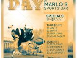 Sports Day Poster Template Game Day Sports Bar Flyer Template Party Templates and