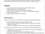 Sports Resume Template associate athletic Director Resume Template Best Design