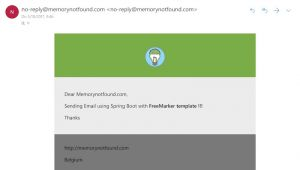 Spring Freemarker Email Template Example Spring Mail Sending Email with Freemarker HTML Template