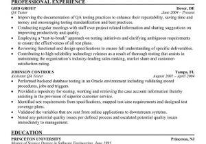Sqa Resume Sample Quality assurance Tester Resume Best Resume Gallery